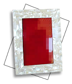 Rectangular MOP shell picture frame brick design